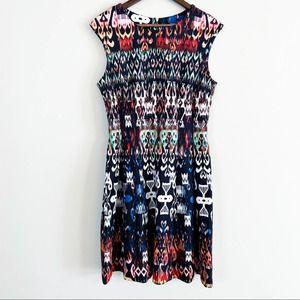 Dress Barn Jersey Knit Print Sheath Dress 10 EUC